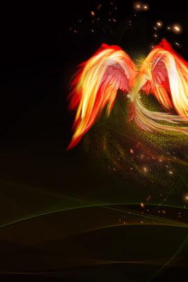 ngọn lửa logo phượng hoàng phượng lửa chim lửa , Chất Liệu Vector, Anime, Poster Ảnh nền