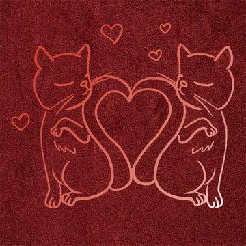 gradient red cat creative , Cat, Poster, Literature ภาพพื้นหลัง