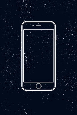 dark blue night sky starry sky mobile device , Night Sky, Material, H5 Background Imagem de Fundo