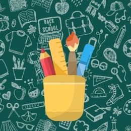 ブラック ゴールドの吹流し 学校ポスター 鉛筆 , 鉛筆, 学習背景, 学校ポスター 背景画像