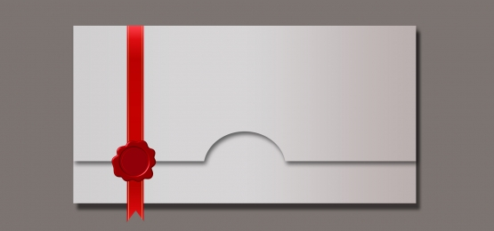 Envelope blank envelope red ribbon seal Envelope Background Seal Фоновое изображение