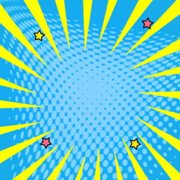 yellow background blue background stars comic lines , Star, Material, Through Train Imagem de fundo