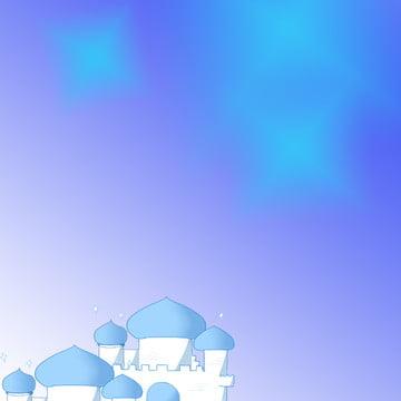 नीला सपना कार्टून महल , प्यारा, काला कार्टून, कार्टून पृष्ठभूमि छवि