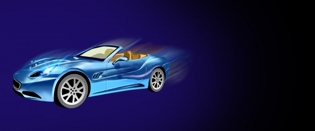 blue fluorescent moving photographic sports car poster background, Blue Poster, Fluorescent Blue, Fluorescent Background Background image