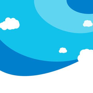 青色の背景色 幾何学 雲 子供服 , 淘宝網, 子供用商品, 母子商品 背景画像