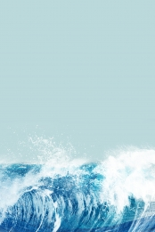 Blue sea water wave mobile phone end H5 background , Blue, Sea, Water Waves Background image