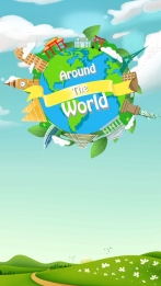 blue sky green space globe travel leaves , Spring, Travel, World Attractions ภาพพื้นหลัง