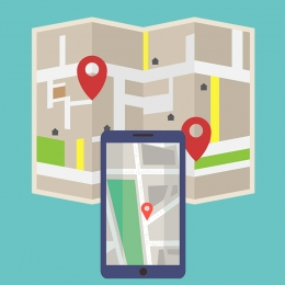background flat cartoon flat cellphone , Flat, Navigation, Mobile Фоновый рисунок