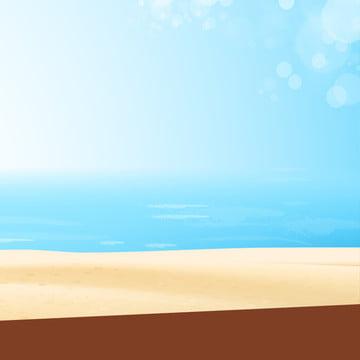 Cartoon Seaside Master Illustration Background Material, Cartoon, Hand Drawn, Seaside, Background image