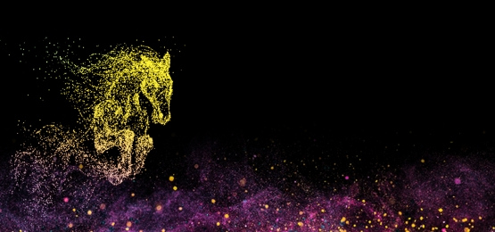 Colorful running horse galloping horse design light horse Running Lights Neon Imagem Do Plano De Fundo