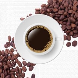 creative coffee beans white coffee background coffee beans background , Bean, Material, Coffee Material Фоновый рисунок