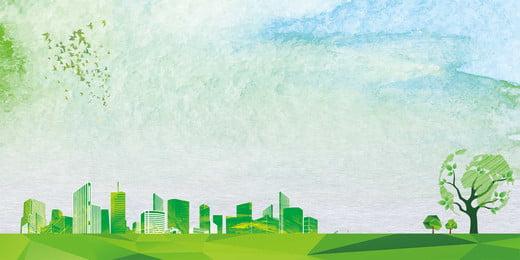 environmental protection public welfare recycling development, Psd, Plane, Electric Car Imagem de fundo