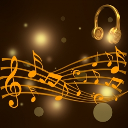 creative music vector gorgeous , Music, Material, Card Фоновый рисунок