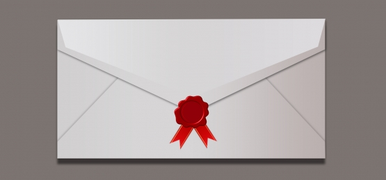 Envelope blank envelope red ribbon seal Recruitment Poster Envelope Фоновое изображение