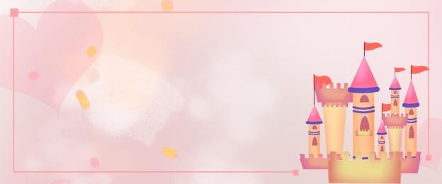 काल्पनिक गुलाबी महल महल सामग्री, सामग्री, गुलाबी पृष्ठभूमि, गुलाबी पोस्टर पृष्ठभूमि छवि