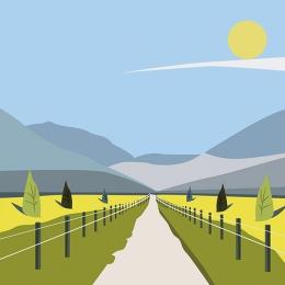 flat flat material flat landscape flat style , Idyllic, Flat, Pastoral Фоновый рисунок