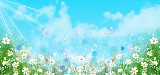 रोमांटिक बालसुलभ हरा ताजा, सपना, , बैनर पृष्ठभूमि छवि