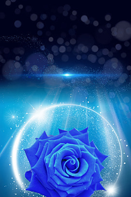 fresh flower ray dark blue background material , Fresh, Simple, Flower Background image