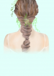 Gradient twist 辫 barber shop poster background material , Barber Shop Poster, Grain, Gradient Background image