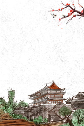 lijiang ancient city travel poster background template , Lijiang, Ancient City, Tourism Background image