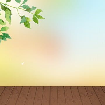 文藝 藍天 綠葉 葉子 , 文藝清新小家電破壁機psd分層主圖背景, 小家電, 淘寶 背景圖片
