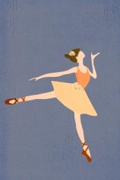 minimalist बैले लड़की हल्के भूरे , के, बैले, हल्के पृष्ठभूमि छवि