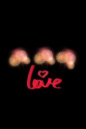 Night fireworks valentine romantic Love Mobile End Imagem Do Plano De Fundo