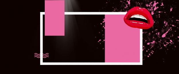 pink lips lights box, Black, Cosmetics, Wave Фоновый рисунок