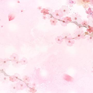 romantic pink romantic cherry blossom cherry blossom cherry blossom background , Cherry, Romantic Pink, Pink Romance Фоновый рисунок