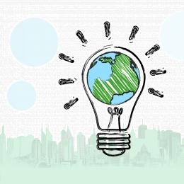 public welfare environmental protection green save the earth , Hands, Light Bulb, Public Welfare Poster Imagem de fundo