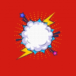 red comics hand drawn explosion bubble frame vector material main picture , Explosion, Explosion Box, Red Background Background image