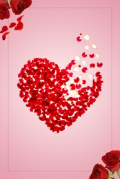 Red background romantic valentine rose Romantic Heart Shape Hintergrundbild