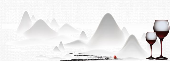 पोस्टर पृष्ठभूमि परिदृश्य पानी के रंग , रेड, सौंदर्य, पोस्टर पृष्ठभूमि छवि