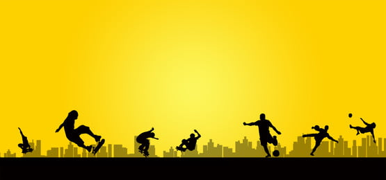 running character silhouette poster psd background material, Running, Character, Silhouette Background image