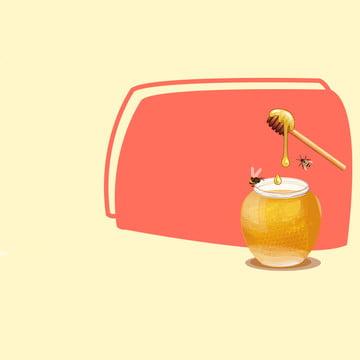 簡約背景 黃色背景 蜂蜜 蜂巢 , 簡約背景, 淘寶, 化妝品 背景圖片