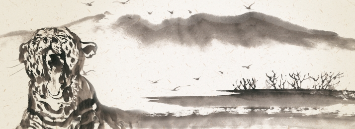 सरल स्याही पेंटिंग बाघ ऊंट, स्याही पृष्ठभूमि, ऊंट, सरल स्याही पृष्ठभूमि छवि