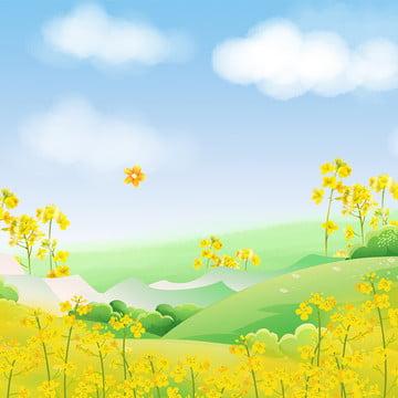 小さな新鮮な板 遠くの山 森の中 春 , 小さな新鮮な板, 遠くの山, 森の中 背景画像