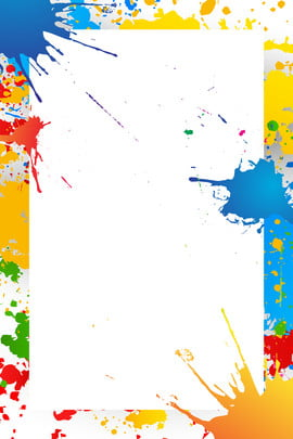 tide flow gorgeous color watercolor splatter , Business Promotion, Abstract, Poster Фоновый рисунок