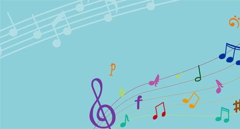 音樂 符號 樂譜 音樂海報, 音樂海報, 樂譜, 花紋背景 背景圖片