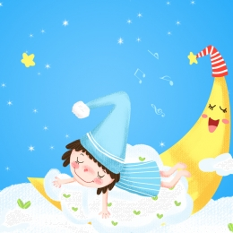 taobao blue cartoon dream , Material, Psd, Activity Imagem de fundo