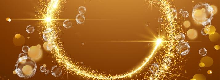 mỹ phẩm vàng bong bóng biên giới, Lãng Mạn, Nền, Bóng Ảnh nền