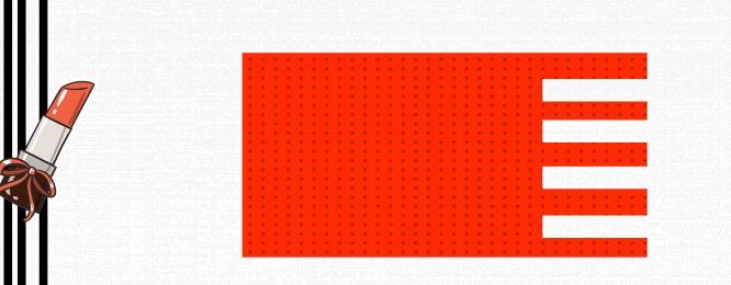 淘寶 化妝品 手繪 卡通, 淘寶手繪化妝品紅黑白背景banner, 歐美, 淘寶 背景圖片