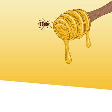 淘寶 黑色 扁平 簡約 , 蜜蜂, 家居, 蜂蜜 背景圖片