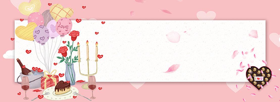वेलेंटाइन चॉकलेट गुलाब पोस्टर हंस वेलेंटाइन उपहार पृष्ठभूमि छवि