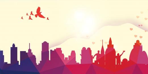 旅行 旅行代理店 塗装 高層ビル グラデーション 旅行代理店の旅行の背景を描いた 旅行代理店 背景画像
