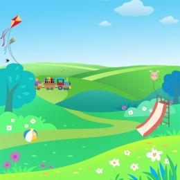 黄色の背景 漫画の背景 子供服 子供の靴 , おもちゃ, 子供の靴, 白い雲 背景画像
