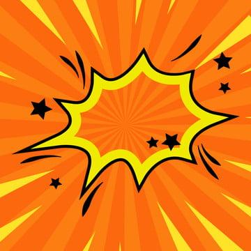 विस्फोट विस्फोट बॉक्स संवाद बॉक्स नारंगी पृष्ठभूमि , एनीमे सराउंड, मुख्य, फ्रेम पृष्ठभूमि छवि