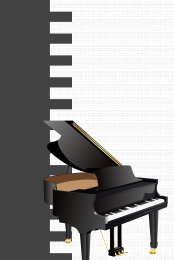 piano training piano poster black and white creativity piano instrument , Joy, Advertising Design, White Фоновый рисунок