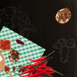 Black background food master illustration seasoning chili Seasoning Chili Black Imagem Do Plano De Fundo