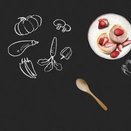 blackboard chalk realism plant , Food, Chalk, Propaganda Imagem de fundo